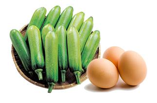호박, 달걀