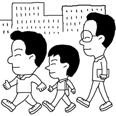 운동화 출근