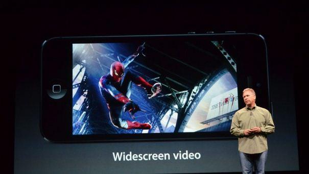 ▲ 아이폰5의 화면 크기가 4인치로 커지면서 와이드스크린이라는 수식어가 붙게 됐다./더버지 캡쳐