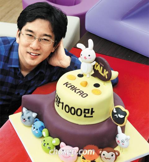 """1500만명이 즐기는 인기 게임'애니팡'을 개발한 이정웅 선데이토즈 대표는""""친구들과 같이 즐기는 게임 방식이 인기 비결""""이라며""""앵그리버드 같은 성공 신화를 만들고 싶다""""고 말했다. /허영한 기자 younghan@chosun.com"""