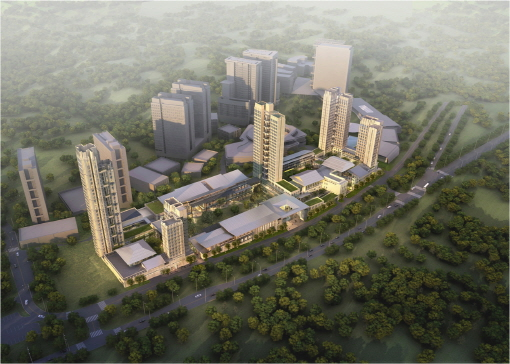 쌍용건설이 싱가포르에서 수주한 예일-NUS대학교 건립공사 조감도./쌍용건설 제공