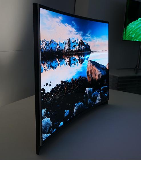 삼성전자의 곡면 OLED TV. /안석현 기자