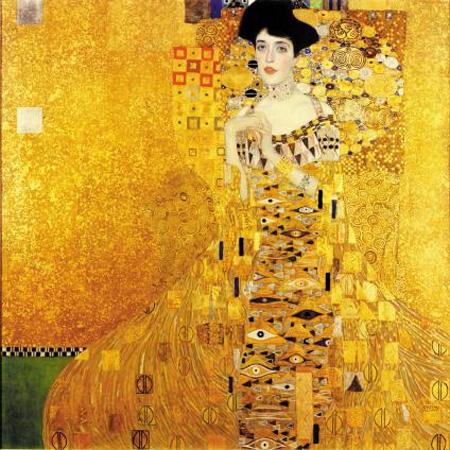 비엔나의 황금기를 대표하는 화가 구스타프 클림트의 작품'아델레 블로흐-바우어의 초상'(1907).