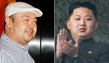 <br />북한 김정남(왼쪽)과 김정은(오른쪽) 노동당 제1비서./조선일보DB<br />