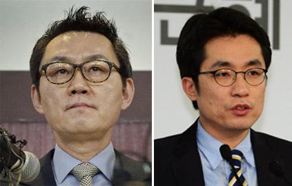 윤창중(왼쪽) 김상민 새누리 의원 /조선일보DB