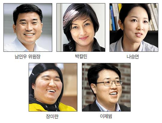 남민우 위원장, 박칼린, 나승연, 장미란, 이제범 사진