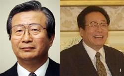 이동복 전남북회담 대표(왼쪽) 김용순 전 노동당 대남비서