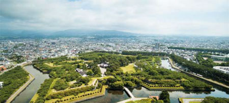 일본 홋카이도 하코다테의 성곽