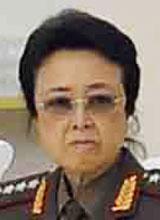 김정은 노동당 제1비서의 고모인 김경희 노동당 비서.