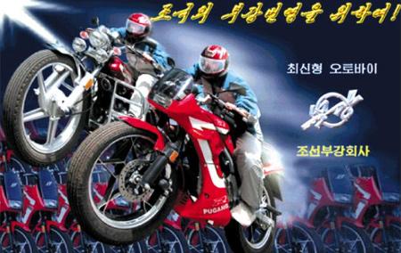 북한의 대기업인 조선부강회사의 광고 사진