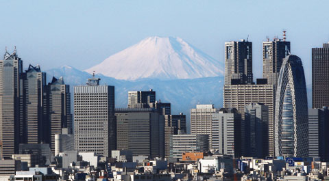 후지산 폭발가능성(사진: 일본 후지산. 시즈오카현 북동부와 야마나시현 남부에 걸쳐있다.) /조선일보DB