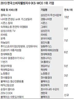 2013 한국소비자웰빙지수 1위 기업
