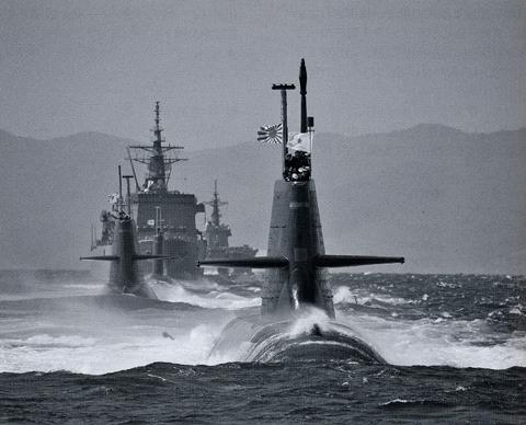 300톤급 소류형 잠수함. 해상자위대는 2020년까지 잠수함 전력을 20척으로 늘릴 계획이다.