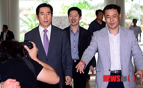 """조현오 항소심 변론종결…""""노무현 지지자 손들라"""" 한때 소란"""