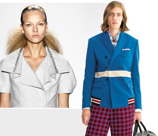 (사진 왼쪽)7일 미국 뉴욕 패션위크 무대에서 소개된 디자이너 ...