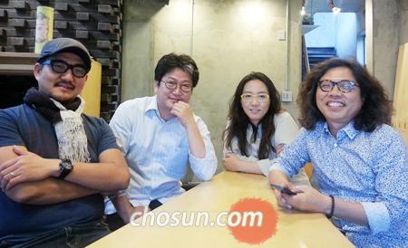 '최소의 집'전시에 참여한 건축가 정영한, 김희준, 노은주·임형남(왼쪽부터) 사진