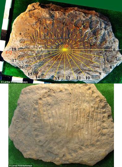 가장 오래된 해시계 / 영굴 데일리메일 제공