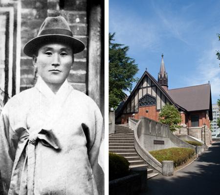 1929년, 37세의 춘원 이광수와 이광수가 유학한 메이지가쿠인 대학 사진