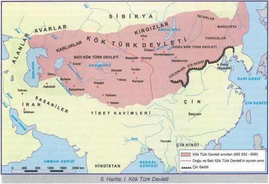 터키 교과서의 돌궐 영토.