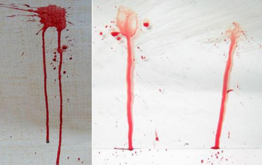 다양한 혈흔의 형태