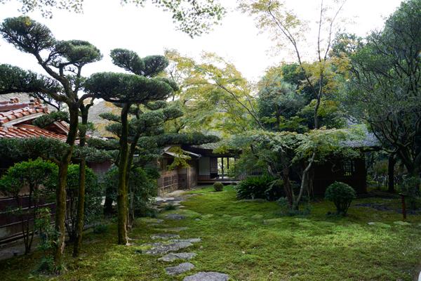 이곳은 일본식 전통 정원으로 연못과 나무, 돌 등의 사물을 균형 있고 조화롭게 구성해 놓았다.