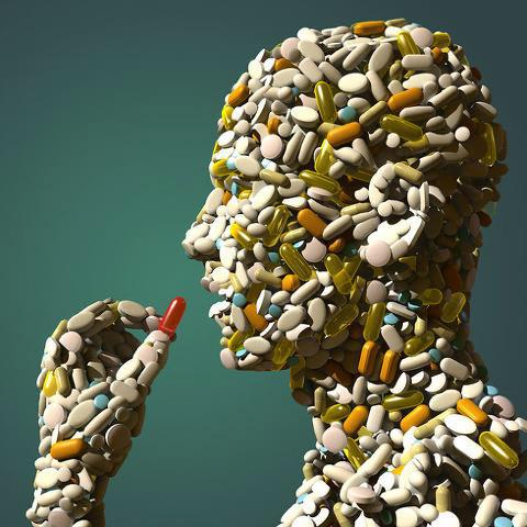 식품과 의약품의 경계를 넘나드는 기능성 식품의 부작용을 지적하는 포스터.