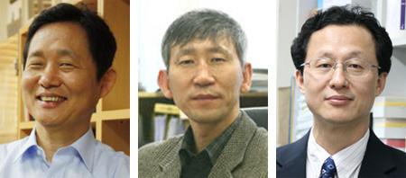 김대식 교수, 장석복 교수, 서영준 교수 사진