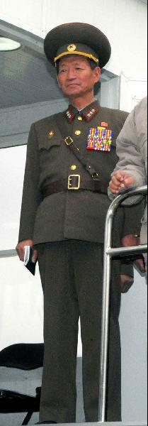 윤정린 북한 호위사령관.