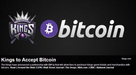 미국 프로농구(NBA) 구단 새크라멘토킹스는 16일 홈페이지를 통해 앞으로 팬들이 경기 티켓 구매와 기념품 구입에 비트코인을 쓸 수 있다고 발표했다./구단 홈페이지