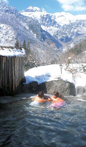 일본 중부 지방의 오쿠히다 온천