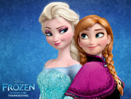 겨울왕국의 자매 캐릭터 엘사(왼쪽)와 안나(오른쪽).
