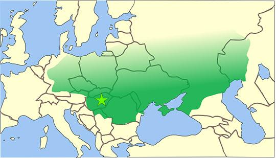 아틸라의 최대판도(434~453년)