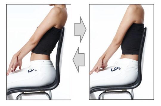 허리 디스크 환자, 착석 1시간당 40회씩 허리 펌핑운동 하라