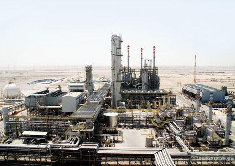 대림산업이 사우디아라비아 동부의 최대 공업단지인 알 주베일에서 건설한 '사하라 PDH-PP(프로판 탈수소 및 폴리프로필렌)' 공장 모습.
