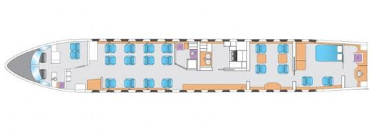 이건희 회장이 이용하다 매각한 HL 7770(현 N8767)의 평면도./그래픽=아브젯 홈페이지