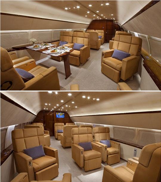 이건희 회장이 이용하다 매각한 HL 7770(현 N8767)의 이코노미 클래스격인 12명의 좌석./사진=아브젯 홈페이지
