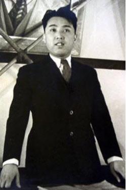 젊은 시절의 김일성.