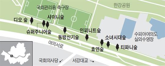 여의도 '소녀시대 숲' 아세요?
