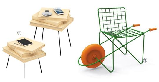 '발세치1918(Valsecchi1918)'의 탁자와 어린이용 의자 '트로터' 사진