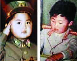 북한 조선중앙TV가 21일 방영한 '제1차 비행사 대회 참가자를 위한 모란봉 악단 공연 영상'에서 공개된 김정은 노동당 제1비서의 어린 시절 모습 사진