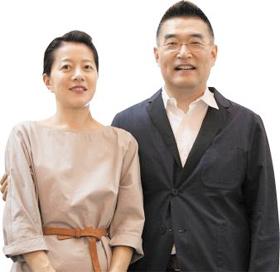 서을호(오른쪽) 서아키텍스 대표와 김경은 소장 부부 사진