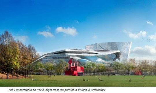 유병언 전 세모 회장의 전시회가 예정된 필하모니 드 파리스 조감도. 이 곳은 파리 외곽 라빌라트 공원에 내년 개장을 앞두고 있다./필하모니드파리스 홈페이지
