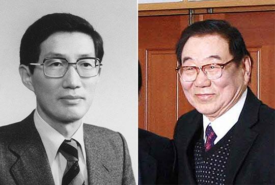 김재익 전 경제기획원 운영국장(왼쪽)과 오원철 전 경제수석./조선일보DB