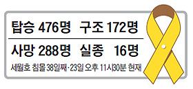 세월호 침몰 38일째 인명 피해 현황 표