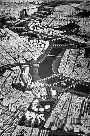 올림픽대회가 열리는 88년의 서울모습. 서울시가 3천5백만원을 들여 제작, 1월23일 시청을 8천분의 1로 축소해 만든 것./조선일보DB