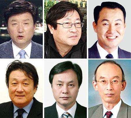 (위 왼쪽부터)하남신, 박신서, 윤훈열, (아래 왼쪽부터)김성묵, 고대석, 장낙인.