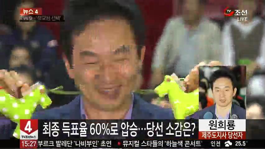 [뉴스 4] 원희룡, 최종 득표율 60%로 압승…당선 소감은?