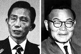 박정희(왼쪽), 윤보선.