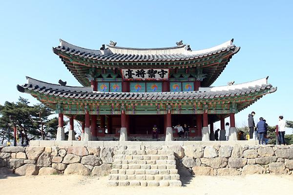 남한산성의 대표적인 건물인 수어장대 전경.