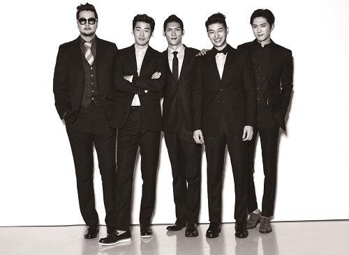 왼쪽부터 god의 김태우, 윤계상, 박준형, 손호영, 데니안. /sidus HQ